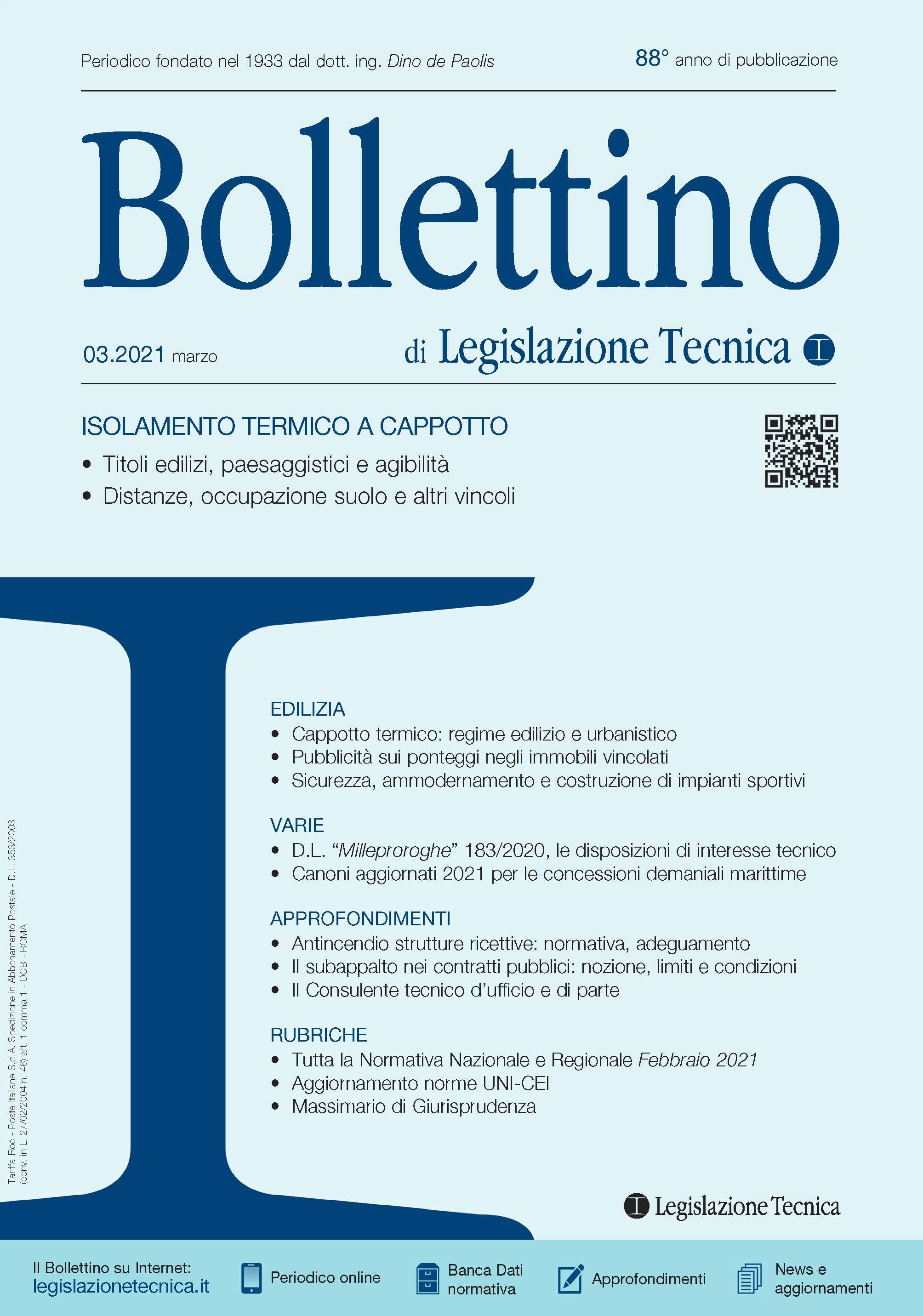 Bollettino di Legislazione Tecnica
